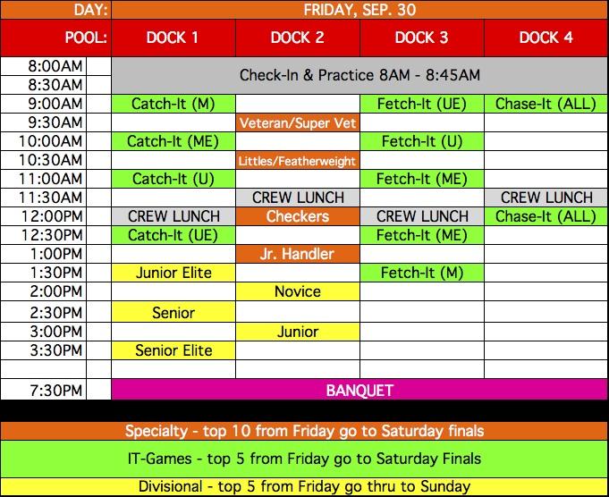 Friday Schedule